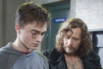 DANIEL RADCLIFFE as Harry Potter and GARY OLDMAN as Sirius Black in Harry Potter and the Order of the Phoenix